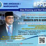 Anggota DPR RI H Dede Yusuf Macan Effendi, ST ,M.I.Pol .kunjungan kerja (Kunker) Reses per orangan SMK ANGKASA 1 MARGAHAYU